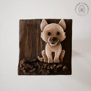 Drewniany obrazek 3D - wilk