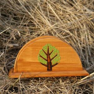 drewniany serwetnik