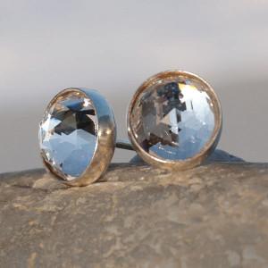 Drobinki srebrne z krzyształem Swarovskiego D054