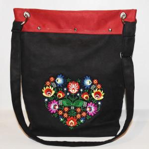 Duża haftowana torba folkowa na ramię