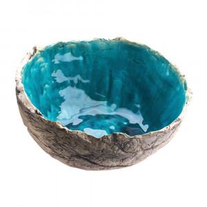 Duża Misa ceramiczna turkusowa