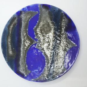 Duża Patera Smugi Niebieskie - 54 cm