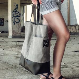 Duża szara torba Shopper