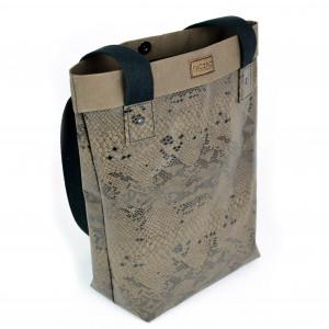 Duża torba z papieru- ecofriendly [wzór węża]