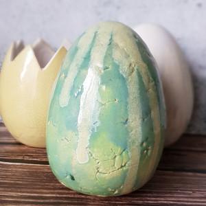 Duże zielone jajo Wielkanocne