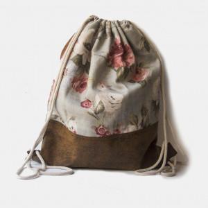Duży plecak w kwiaty