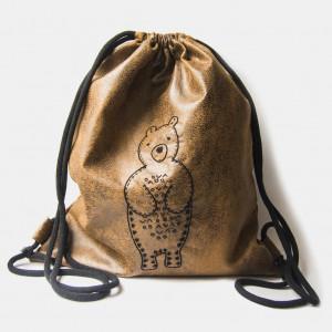 Duży plecak z wyhaftowanym misiem