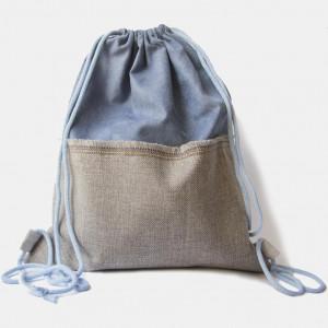 Duży plecak zamszowo-lniany