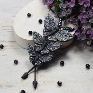 """Duży wisiorek """"czarne motyle"""""""