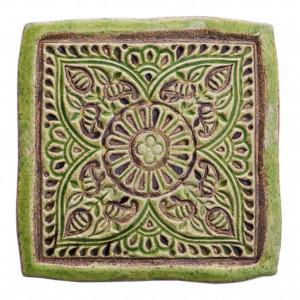 Dwa ceramiczne podstawki pod kubek green 2