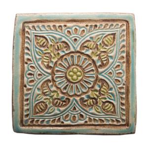 Dwa ceramiczne podstawki pod kubek orient