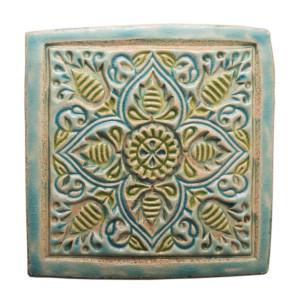 Dwa ceramiczne podstawki pod kubek orient 2