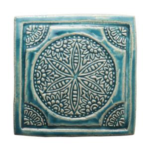 Dwa ceramiczne podstawki pod kubek turkus orient