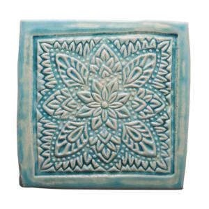 Dwa ceramiczne podstawki pod kubek turkus orient 3