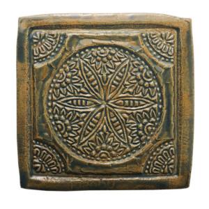 Dwa ceramiczne podstawki pod kubek zieleń orient