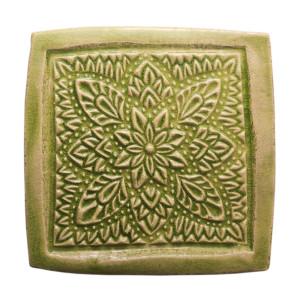 Dwa ceramiczne podstawki pod kubek zieleń orient 2