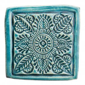 Dwie ceramiczne podstawki pod kubek turkus 4