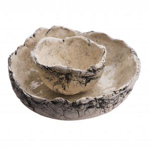 Dwie miski ceramiczne nakrapiane