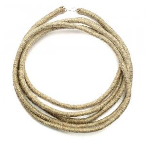Dwumetrowiec - długi naszyjnik lniany