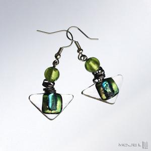 Dyndaczki na zielono - kolczyki