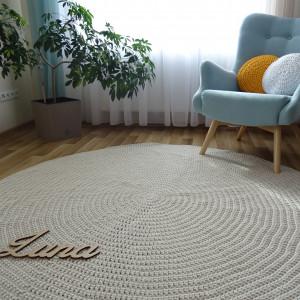 Dywan z bawełnianego sznurka 240 cm