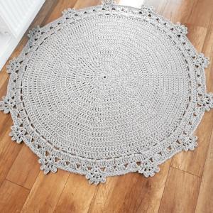 Dywan z sznurka bawełnianego. 120cm