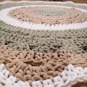 Dywan z sznurka  bawełnianego.. 120cm