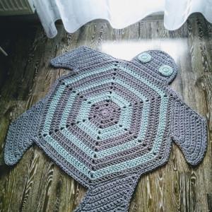 Dywanik sznurkowy żółw