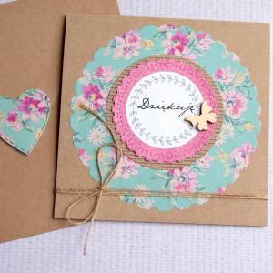 dziękuję - kartka handmade - podziękowanie II