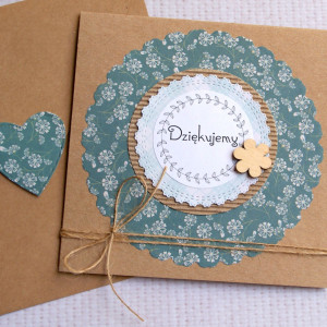 dziękujemy- kartka handmade - podziękowanie