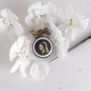 Dziewczyna z perłą, Vermeer  broszka
