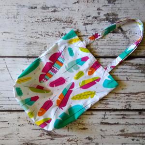 Eko torba bawełniana kolorowe piórka