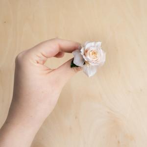 Ekskluzywne ślubne kwiatowe ozdoby do włosów róż3