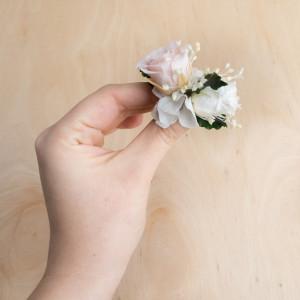 Ekskluzywne ślubne ozdoby do włosów biel róż4