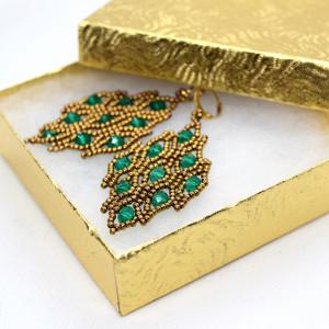 Eleganckie błyszczące kolczyki z kryształkami