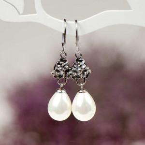 Eleganckie kolczyki z perłami model Erwina a802