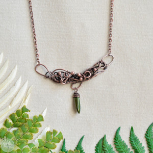 Elfia zieleń - naszyjnik delikatny