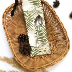 Etui na sztućce wielorazowe, liście