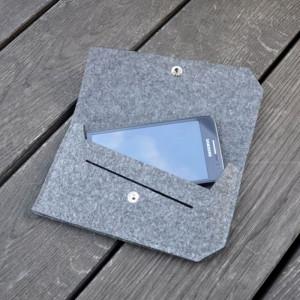 Etui z filcu na telefon do torebki - szare