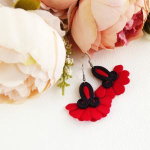 Faan 3 - kwiatowe kolczyki sutaszowe