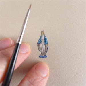 Figura Matki Boskiej, miniatura