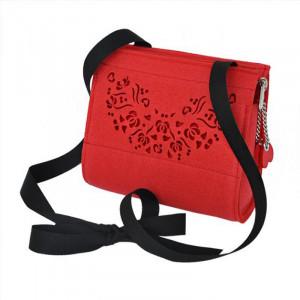 Filcowa torebka dla dziewczynki - czerwona