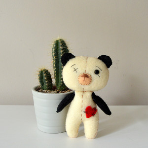 Filcowy miś Pan Panda