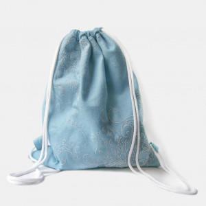 Filcowy plecak z białym haftem