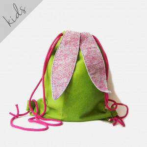 Filcowy plecak zielony króliczek