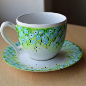 Filiżanka ceramiczna ręcznie malowana