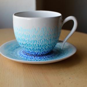 Filiżanka ceramiczna ręcznie malowana Błękit