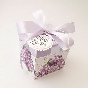 Fiolet - pudełko ślubne