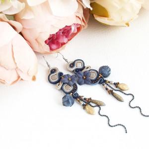 Fleur 11 - sutaszowe kolczyki z kwiatami