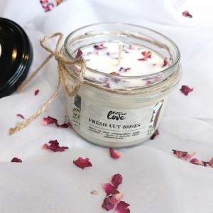 Fresh Cut Roses - świeca sojowa NaturaLove 180ml